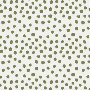 painted dots - nursery dots - sfx0525 iguana - dots fabric, painted dots, dots wallpaper, painted dots wallpaper - baby, nursery