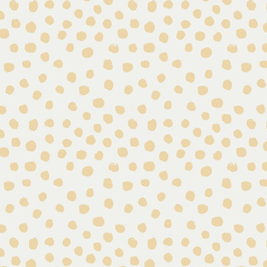 painted dots - nursery dots - sfx0916 chamomile - dots fabric, painted dots, dots wallpaper, painted dots wallpaper - baby, nursery