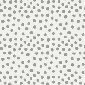 painted dots - nursery dots - sfx5803 fog - dots fabric, painted dots, dots wallpaper, painted dots wallpaper - baby, nursery