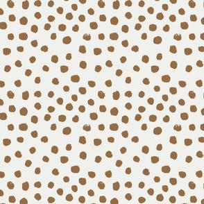 painted dots - nursery dots - sfx1044 chipmunk - dots fabric, painted dots, dots wallpaper, painted dots wallpaper - baby, nursery