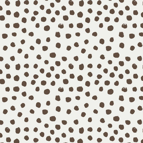 painted dots - nursery dots - sfx1027 toffee - dots fabric, painted dots, dots wallpaper, painted dots wallpaper - baby, nursery