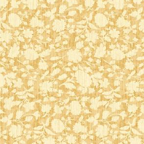 Golden Yellow Silhouette Botanical