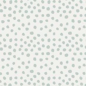 painted dots - nursery dots - sfx6205 milky green - dots fabric, painted dots, dots wallpaper, painted dots wallpaper - baby, nursery