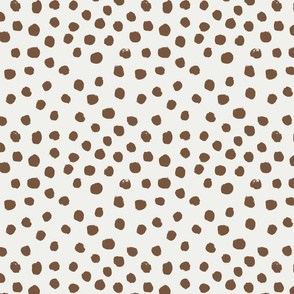 painted dots - nursery dots - sfx1033 toffee - dots fabric, painted dots, dots wallpaper, painted dots wallpaper - baby, nursery