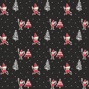 Santa Elf Charcoal Red   #Christmas #holiday