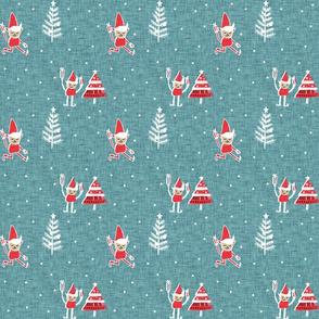 Santa Elf Blue  #Christmas #holiday