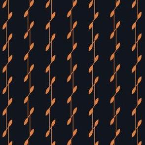 Linear Leaves - Black&Gold
