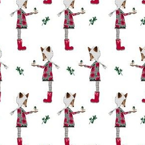 "4"" Winter Plaid Friends Mix and Match"