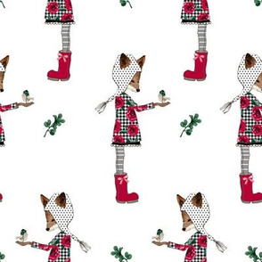 "8"" Winter Plaid Friends Mix and Match"