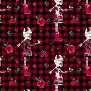 "4"" Winter Plaid Friends"