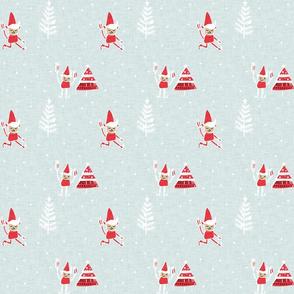 Santa Elf Blue Red  #Christmas #holiday