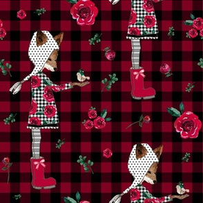 "8"" Winter Plaid Friends"