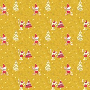 Santa Elf Gold Red #Christmas #holiday