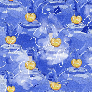 Tea Love  Large | Blue + Yellow