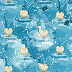 Tea Love | Large | Teal Blue