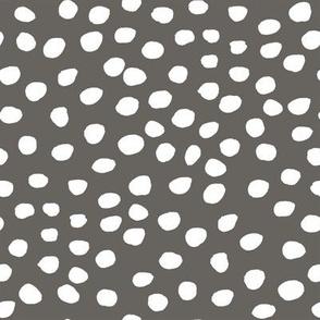 "8"" White Dots Brown Back"