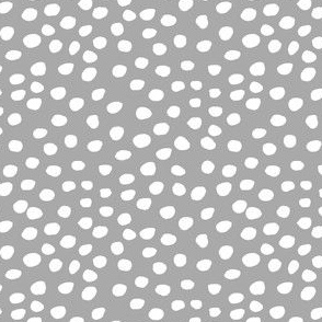 """4"""" White Dots Grey Back"""