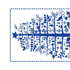 Christmas Tea Towel (blue)