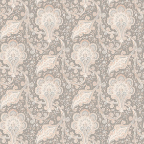Taupe and Blush Paisley