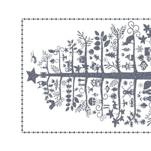 Christmas Tea Towel (gray)