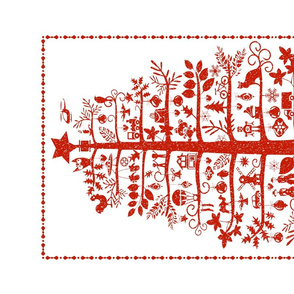 Christmas Tea Towel (red)