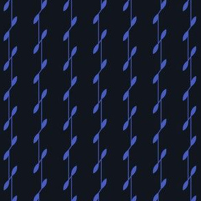 Linear Leaves - Black&Blue