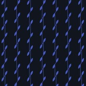 Linear Leaves - Black&Blue