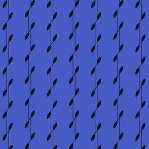 Linear Leaves - Blue&Black