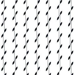 Linear Leaves - White&Black