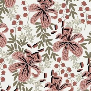 stargazer lily fabric - sfx1512, sfx1443, sfx0620 - home decor fabric, lily wallpaper, interior florals - lily fabric, lily wallpaper