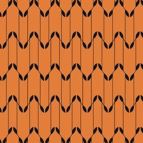 Geometric Leaves - Gold&Black