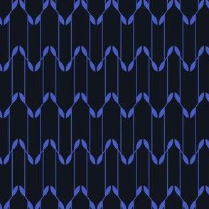 Geometric Leaves - Black&Blue