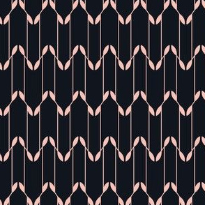 Geometric Leaves - Black&Pink