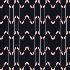 Geometric Leaves - Black&Pink
