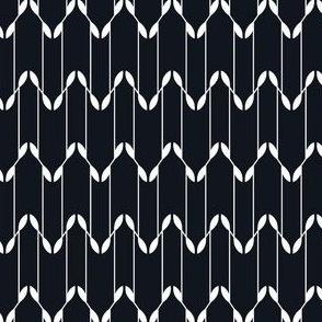 Geometric Leaves - Black&White