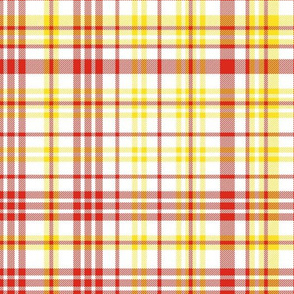 manchester united plaid fabric - tartan fabric, check fabric, red and yellow fabric