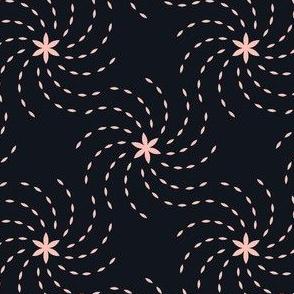 Geometric Sunflower Seeds - Black&Pink
