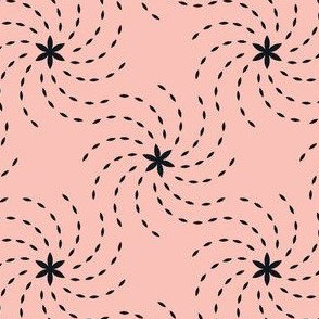 Geometric Sunflower Seeds - Pink&Black