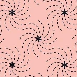 Geometric Sunflower Seeds - Pink&Black
