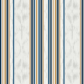 White Gold and Navy Global Stripe