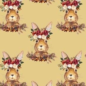 """4"""" Harvest Bunny Autumn Mustard"""