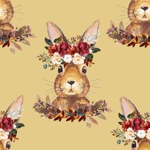 """8"""" Harvest Bunny Autumn Mustard"""