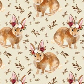 "4"" Harvest Bunny Mix and Match Tan"
