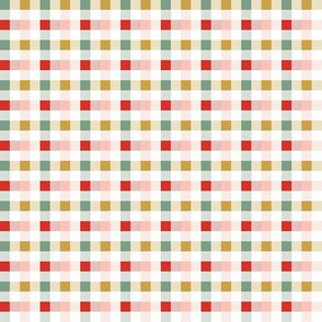 Christmas Rainbow Gingham 1x1