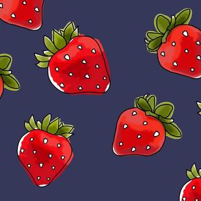 Strawberries On Vintage Large