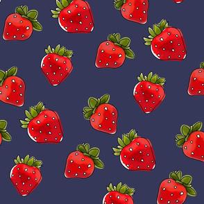 Strawberries On Vintage Medium