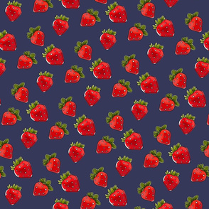 Strawberries On Vintage Small