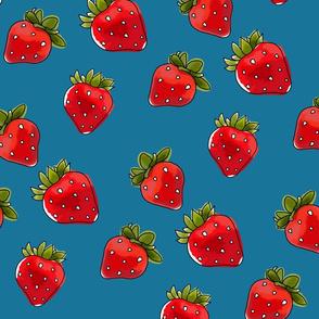 Strawberries On Denim Medium