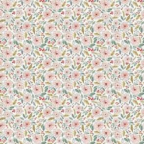 Christmas Blossoms White-2x2