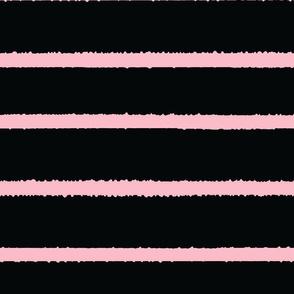 Wide Jagged Stripes Black_Pink